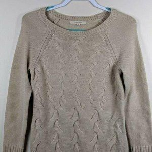 41 Hawthorn Soft Beige Cable Sweater S